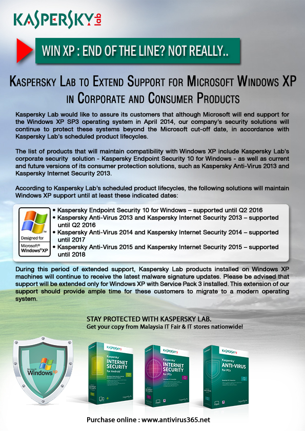 Kaspersky Continues to Support Windows XP - Malaysia IT Fair